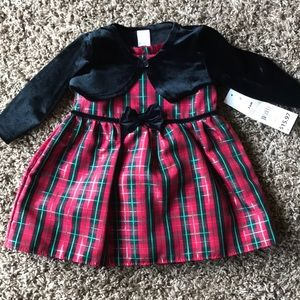 Baby girl dress with sweater NWT
